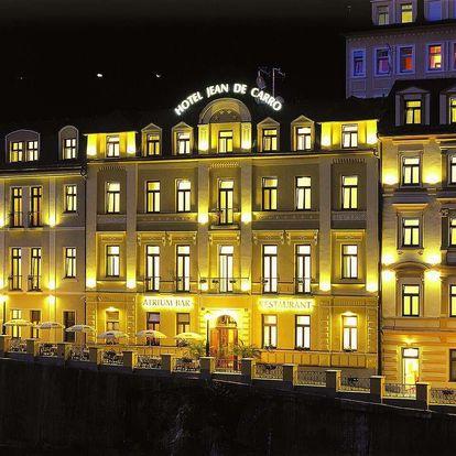 Relax v hotelu Jean de Carro**** v Karlových Varech s wellness a polopenzí