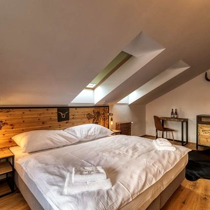Pivní hotel Zlatá kráva - pípa na pokoji + pivní lázně a wellness