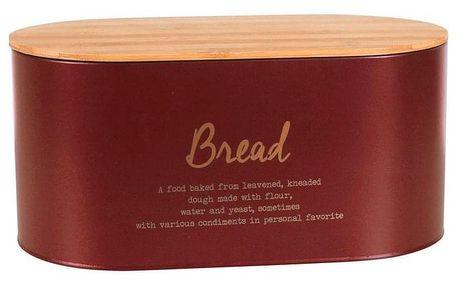 Altom Box s bambusovým víkem na pečivo, červená