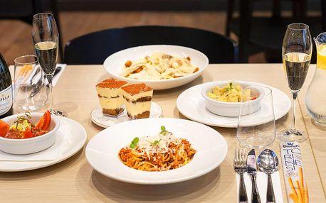 Chuť Itálie: bohaté 3chodové menu pro 2 osoby