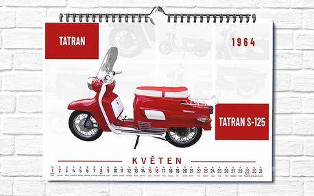 Nástěnný kalendář formátu A3: 12 retro motocyklů