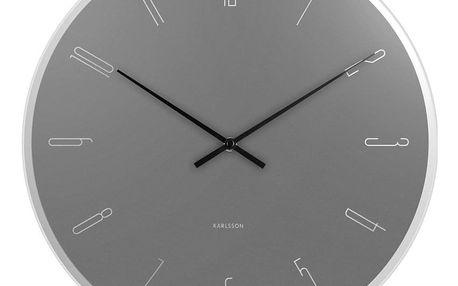 Karlsson 5800GY 40cm nástěnné hodiny