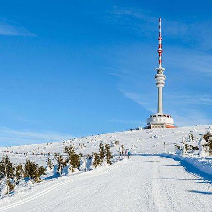 Pobyt ve vysílači Praděd ve výšce 1492 m n.m. pro dva s polopenzí