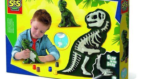Ses Kreativní sádrový set Svíticí kostra T-rexe