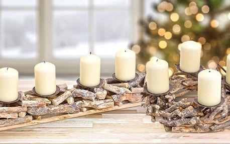 Adventní svícen či věnec z přírodních materiálů