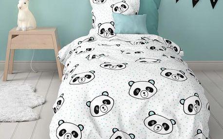 Mistral home Mistral Home dětské povlečení 100% bavlna Panda 140x200/70x90cm