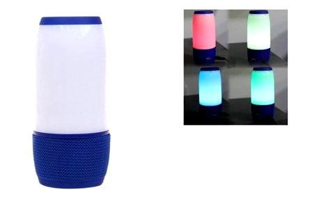 LED bluetooth reproduktor modrý