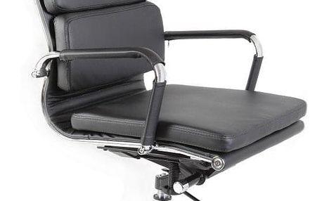 Kancelářská židle ADK Soft, černá eko kůže