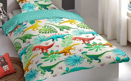 Good Morning Povlečení Good Morning 100% bavlna Dinos 140x200/70x90 cm
