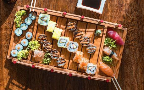44, 54 nebo 58 ks sushi s rybami i zeleninou