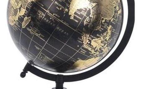 Zlatý glóbus o pr. 20 cm na černém podstavci