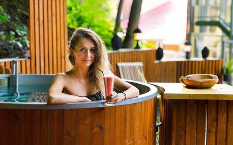Zážitky v pivovarském lázeňském hotelu v srdci Beskyd s privátními lázněmi v lese i na pokoji