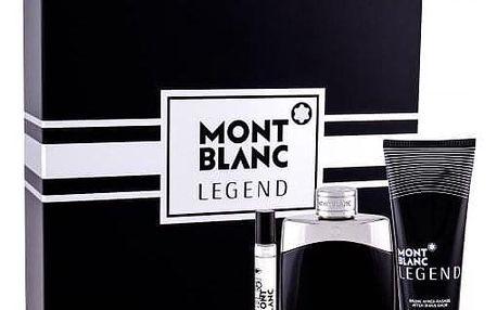 Montblanc Legend dárková kazeta pro muže toaletní voda 100 ml + balzám po holení 100 ml + toaletní voda 7,5 ml