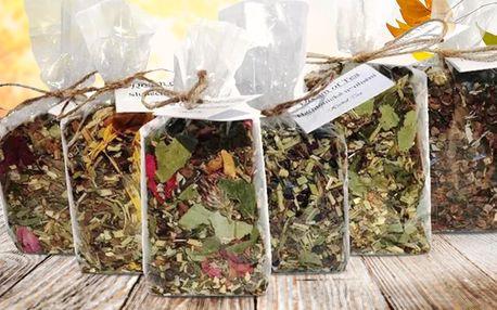 Kolekce 6 sypaných bylinných čajů, ručně baleno v ČR