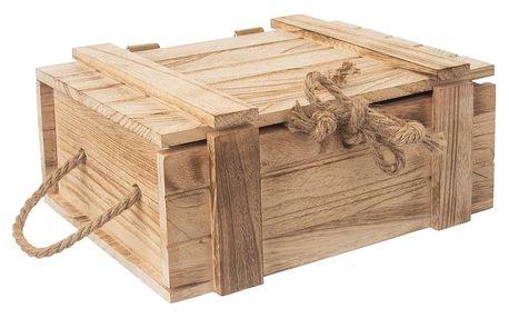 Orion Dřevěná dárková truhla, 36 x 26 x 16 cm