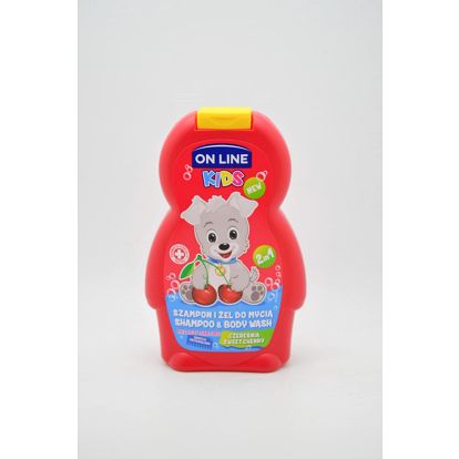 On Line Kids Dětský Šampon + sprchový gel 250ml: Sweet cherry