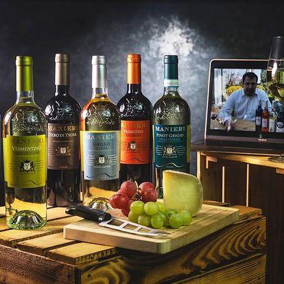 Dárkový balíček šesti druhů italských vín + videodegustace se someliérem