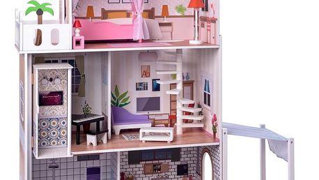 Woody Domeček pro panenky s výtahem Malibu, 75 x 39 x 120 cm