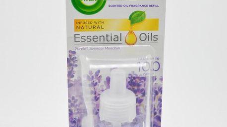 Air Wick náplň pro elektrický osvěžovač vžduchu. Nádoba 19 ml. Vůně: Purple Lavender Meadow