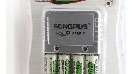Nabíječka baterek + 4 nabíjecí baterie