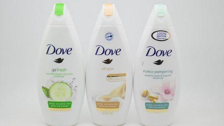 Dove sprchový gel: Silk glow