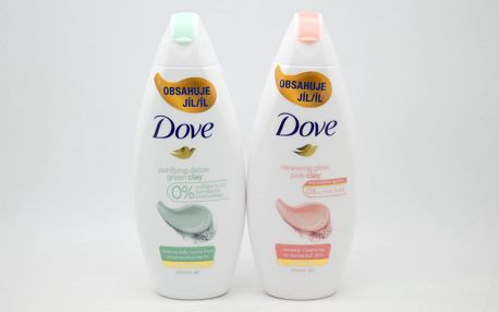 Dove sprchový gel: Renewing glow - pink clay