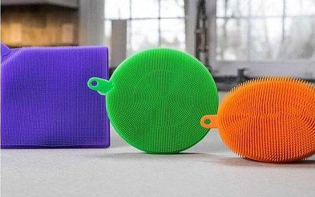 Silikonové houby na nádobí i pro otevírání sklenic