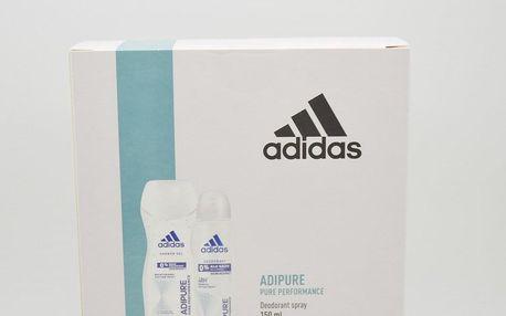 Adidas Adipure 2 dárková kazeta pro muže deodorant ve spreji 150 ml + sprchový gel 250 ml