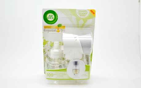 Air Wick elektrický osvěžovač vžduchu - strojek a náplň. Vůně: Bílé květy Náplň: 19 ml.