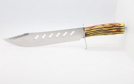 Lovecký nůž - pruhovaný vzor TG2