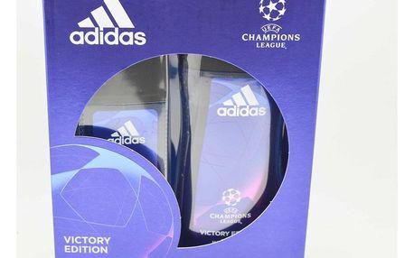 Adidas Champions League dárková kazeta pro muže deodorant sklo 75 ml + sprchový gel 250 ml