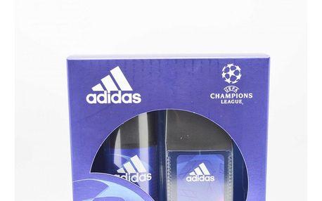 Adidas Champions League dárková kazeta pro muže deodorant sklo 75 ml + deospray 150 ml
