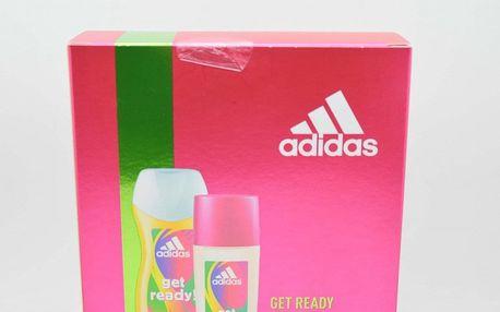 Adidas Get Ready dárková kazeta pro ženy deodorant sklo 75 ml + sprchový gel 250 ml