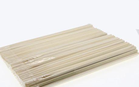 Dřevěné hůlky na jídlo 100ks - světlá