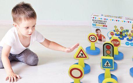 Pěnové dopravní značky pro děti již od 1 roku