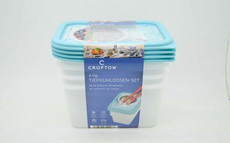 Crofton Plastový Box na potraviny 0,75ltr / 4ks