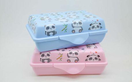Svačinový box 0,9L Panda modrá