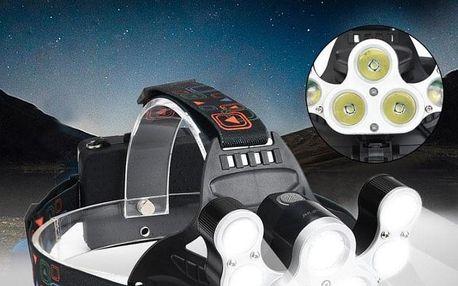 Extra silná čelová svítilna se 7 LED diodami