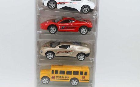 Dárková sada kovových autíček - 5 kusů