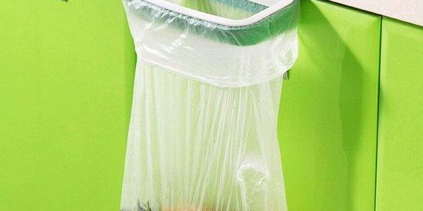 Praktický plastový držák na odpadkové pytle