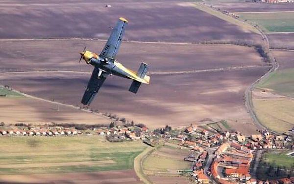 Akrobatický let s letadlem Bulldog   Roudnice nad Labem   Celoročně.   25 minut.5