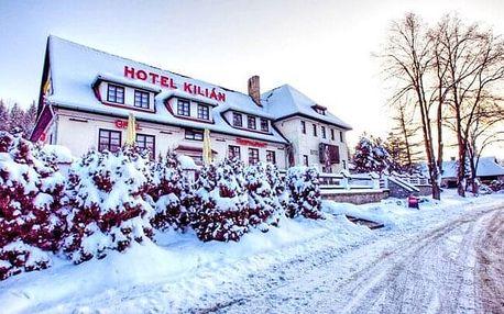 Jižní Čechy: Pobyt u přehrady Lipno v blízkosti ski areálů v Hotelu Kilián *** s polopenzí + dítě zdarma