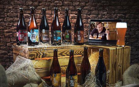 Dárkový balíček 10 druhů piva Zlatá Kráva + videodegustace se sládkem