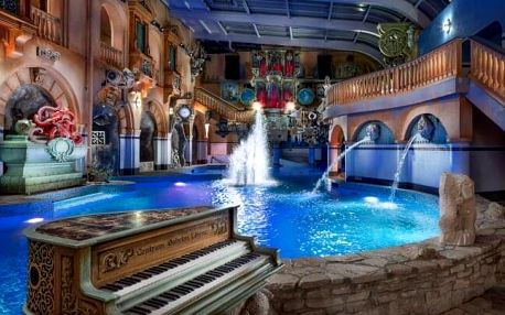 Liberec: WELLNESS HOTEL BABYLON **** se snídaněmi, aquaparkem, saunovým světem i lunaparkem + 2 děti zdarma