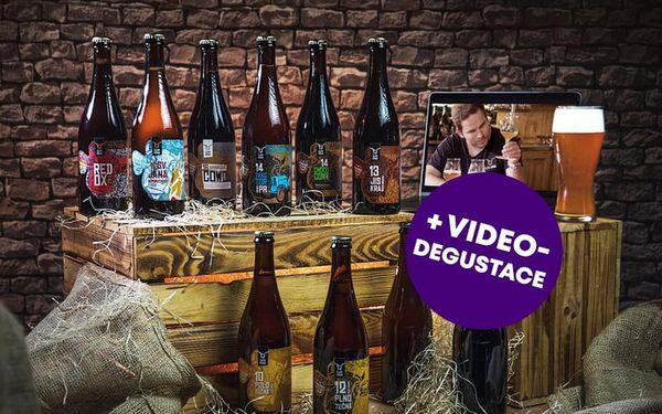 Dárkový balíček 10 druhů piva Zlatá Kráva + videodegustace se sládkem, U vás doma, 10 lahví piva + videodegustace + doručení po ČR4