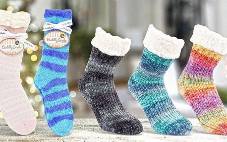 Extra hřejivé dámské ponožky i s vánočními vzory