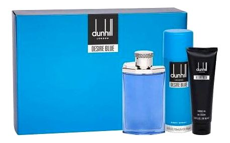 Dunhill Desire Blue dárková kazeta pro muže toaletní voda 100 ml + sprchový gel 90 ml + deodorant 195 ml