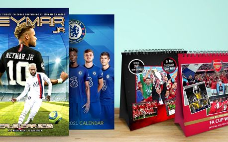 Kalendáře 2021 s fotbalovými kluby a hráči