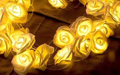 Světelný řetěz s romantickými růžemi