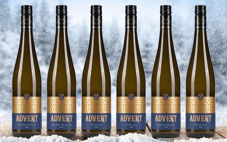 Set 6 lahví vína z Mikulovska v dárkovém balení